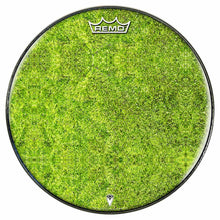 Moss Design Remo-Made Graphic Drum Head by Visionary Drum; green plant drum art