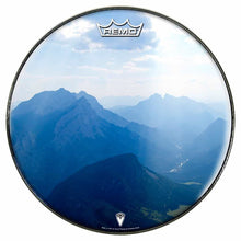Mountains, Sky, Clouds Design Remo-Made Graphic Drum Head by Visionary Drum; earth based drum art