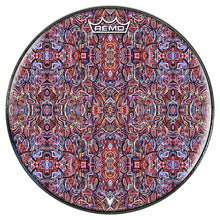 Moving Through Objects Design Remo-Made Graphic Drum Head by Visionary Drum; abstract drum art