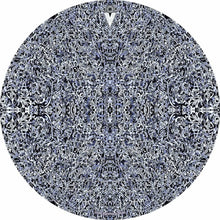 Muon Scan design graphic drum skin by Visionary Drum; black and white drum art