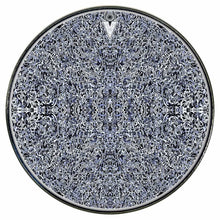 Muon Scan graphic drum skin installed on bass drum head by Visionary Drum; meditation drum art