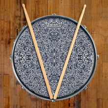 Muon Scan Design Remo-Made Graphic Drum Head on Snare Drum; abstract drum art