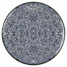 Muon Scan Design Remo-Made Graphic Drum Head by Visionary Drum; black and white drum art