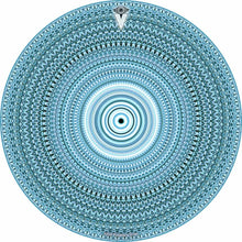 Blue One for the Everything design graphic drum skin by Visionary Drum; geometric drum art