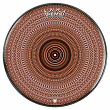Brown One for the Everything Design Remo-Made Graphic Drum Head by Visionary Drum; geometric drum art