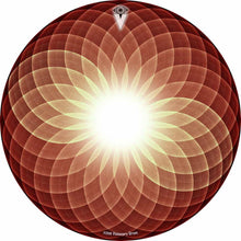 Brown Opening Up design graphic drum skin by Visionary Drum; sacred geometry drum art