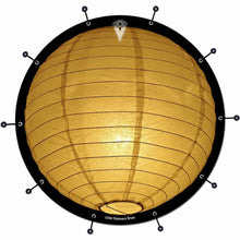 Paper Lantern bass face drum banner by Visionary Drum; sphere shaped lamp drum art