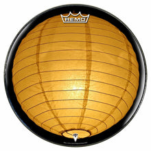Paper Lantern Design Remo-Made Graphic Drum Head by Visionary Drum; yellow glow drum art