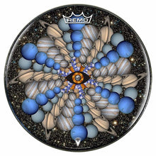 Planetary Eye Design Remo-Made Graphic Drum Head by Visionary Drum; outer space drum art