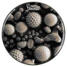 Microscopic Pollen graphic Remo drum head by Visionary Drum