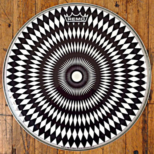 Glossy black and white op art design 14