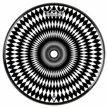 Pulse Design Remo-Made Graphic Drum Head by Visionary Drum; diamond pattern drum art