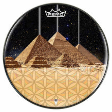 Pyramids Design Remo-Made Graphic Drum Head by Visionary Drum; geometric drum art