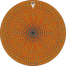 Red Rainbow Blossom design graphic drum skin by Visionary Drum; geometric drum art