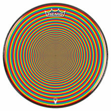 Rainbow Portal Design Remo-Made Graphic Drum Head by Visionary Drum; rainbow circle drum art