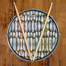 Rock Reflections Design Remo-Made Graphic Drum Head on Snare Drum; abstract drum art