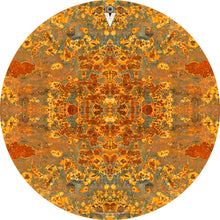 Rust Mandala design graphic drum skin by Visionary Drum; orange mandala drum art