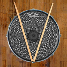Seed Maker Design Remo-Made Graphic Drum Head on Snare Drum; checkerboard drum art
