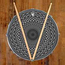Seed Maker graphic drum skin on snare drum head by Visionary Drum; mandala drum art