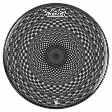 Seed Maker Design Remo-Made Graphic Drum Head by Visionary Drum; black pattern drum art