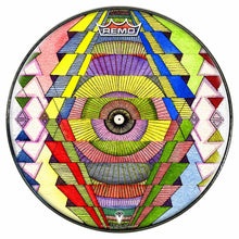 Singular Vision Design Remo-Made Graphic Drum Head by Visionary Drum; psychedelic drum art
