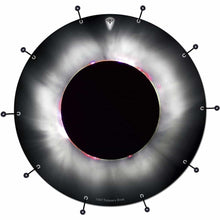 Solar Eclipse bass face drum banner by Visionary Drum; circle drum art