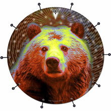 Space Bear bass face drum banner by Visionary Drum; abstract drum art