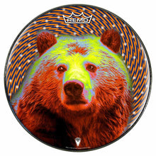 Space Bear Design Remo-Made Graphic Drum Head by Visionary Drum; psychedelic drum art