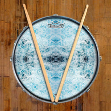 Splash Design Remo-Made Graphic Drum Head on Snare Drum; nature drum art
