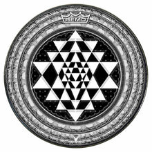Sri Yantra Design Remo-Made Graphic Drum Head by Visionary Drum; geometric drum art