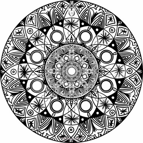 Starlight design graphic drum skin by Visionary Drum; black and white drum art