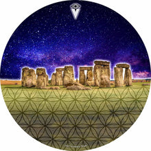 Stonehenge design graphic drum skin by Visionary Drum; sacred sites drum art