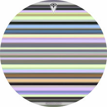 Green Stripes design graphic drum skin by Visionary Drum; earth tone drum art