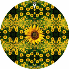 Sunflowers design graphic drum skin by Visionary Drum; flower drum art