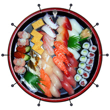 Sushi graphic bass face banner style drum art