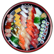 Sushi graphic drum head by Visionary Drum and made by Remo