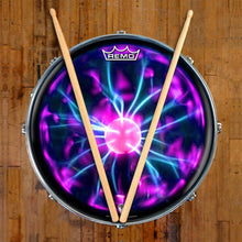 Tesla Coil Design Remo-Made Graphic Drum Head on Snare Drum; psychedelic drum art