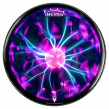 Tesla Coil Design Remo-Made Graphic Drum Head by Visionary Drum; purple drum art