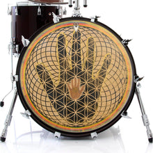 Magical hand graphic drum skin on bass drum