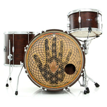 Hand design graphic drum skin on bass drum