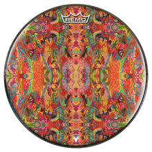 psychedelic, colorful Remo-made drum head