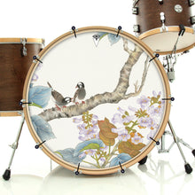 Two Birds Graphic Drum Head Art - All Styles and Sizes - Art by Sally Nissen