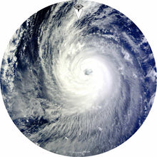 Typhoon design graphic drum skin by Visionary Drum; swirling cloud drum art