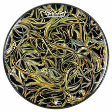 Vines Design Remo-Made Graphic Drum Head by Visionary Drum; nature drum art