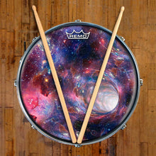 Wormhole Design Remo-Made Graphic Drum Head on Snare Drum; visionary drum art