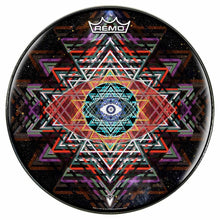 Yantra Complex Design Remo-Made Graphic Drum Head by Visionary Drum; geometric drum art