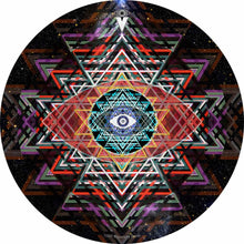 Yantra Complex design graphic drum skin by Visionary Drum; sri yantra drum art