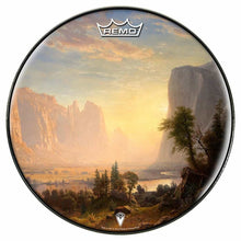 Yosemite Design Remo-Made Graphic Drum Head by Visionary Drum; sunset drum art