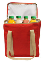 REUSABLE INSULATED TOTE BAG - RED ( 24 pcs/case)