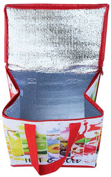 INSULATED GROCERY SHOPPING TOTE BAG ZIPPER TOP LID ( 50 pcs/case)